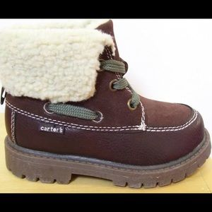 Carter's • Brown Winter Hiking Boots Sherpa Lining